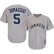 Majestic Men's Replica New York Yankees Joe DiMaggio Cool Base Grey Cooperstown Jersey
