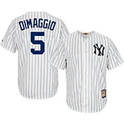 Majestic Men's Replica New York Yankees Joe DiMaggio Cool Base White Cooperstown Jersey