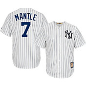 Majestic Men's Replica New York Yankees Mickey Mantle Cool Base White Cooperstown Jersey