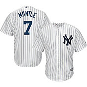 Majestic Men's Replica New York Yankees Mickey Mantle #7 Cool Base Home White Jersey