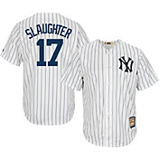 Majestic Men's Replica New York Yankees Enos Slaughter Cool Base White Cooperstown Jersey