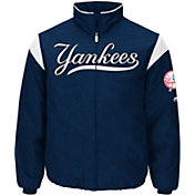 Majestic Men's New York Yankees Therma Base Navy On-Field Premier Jacket