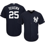 Majestic Men's Replica New York Yankees Mark Teixeira #25 Cool Base Alternate Navy Jersey