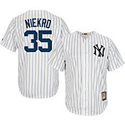 Majestic Men's Replica New York Yankees Phil Niekro Cool Base White Cooperstown Jersey