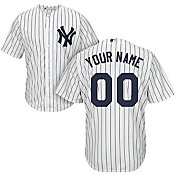 Majestic Men's Custom Cool Base Replica New York Yankees Home White Jersey
