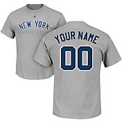 Majestic Men's Custom New York Yankees Grey T-Shirt