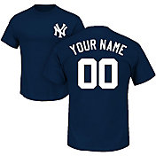 Majestic Men's Custom New York Yankees Navy T-Shirt