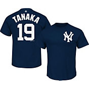 Majestic Men's New York Yankees Masahiro Tanaka #19 Navy T-Shirt