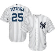 Majestic Men's Replica New York Yankees Mark Teixeira #25 Cool Base Home White Jersey