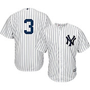 Majestic Men's Replica New York Yankees Babe Ruth #3 Cool Base Home White Jersey