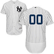 Majestic Men's Full Roster Authentic New York Yankees Flex Base Home White On-Field Jersey