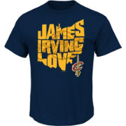 Majestic Men's Cleveland Cavaliers State Of Players Navy T-Shirt