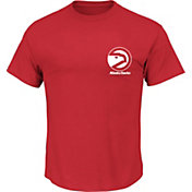 Majestic Men's Atlanta Hawks State Outline Red T-Shirt