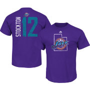 Majestic Men's Utah Jazz John Stockton #12 Purple T-Shirt