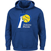 Majestic Men's Indiana Pacers Hardwood Classic 1967-90 Logo Royal Hoodie