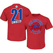 Majestic Men's Philadelphia 76ers Joel Embiid #21 Red T-Shirt