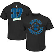 Majestic Men's Minnesota Timberwolves Karl-Anthony Towns #32 Black T-Shirt