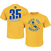 Majestic Men's Golden State Warriors Kevin Durant #35 Gold T-Shirt