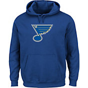 Majestic Men's St. Louis Blues Tek Patch Blue Hoodie