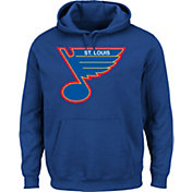 Majestic Men's St. Louis Blues Vintage Tek Patch Blue Hoodie