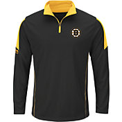 Majestic Men's Boston Bruins Status Black Quarter-Zip Jacket