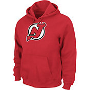 Majestic Men's New Jersey Devils Tek Patch Red Hoodie