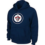 Majestic Men's Winnipeg Jets Tek Patch Blue Hoodie