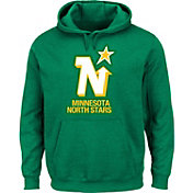 Majestic Men's Minnesota North Stars Vintage Tek Patch Green Hoodie