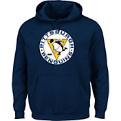 Majestic Men's Pittsburgh Penguins Vintage Tek Patch Navy Hoodie