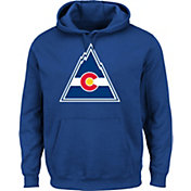 Majestic Men's Colorado Rockies Vintage Tek Patch Blue Hoodie