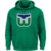Majestic Men's Hartford Whalers Vintage Tek Patch Green Hoodie