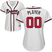 Majestic Women's Full Roster Cool Base Replica Atlanta Braves Home White Jersey