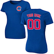 Majestic Women's Custom Chicago Cubs Royal T-Shirt