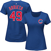 Majestic Women's Chicago Cubs Jake Arrieta #49 Royal T-Shirt