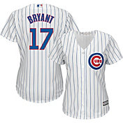 Majestic Women's Replica Chicago Cubs Kris Bryant #17 Cool Base Home White Jersey