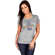 Majestic Women's 2016 World Series Champions Locker Room Chicago Cubs Grey T-Shirt