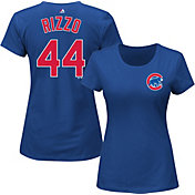 Majestic Women's Chicago Cubs Anthony Rizzo #44 Royal T-Shirt
