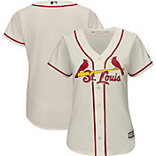 Majestic Women's Replica St. Louis Cardinals Cool Base Alternate Ivory Jersey