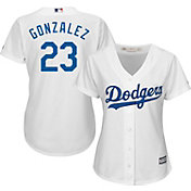 Majestic Women's Replica Los Angeles Dodgers Adrian Gonzalez #23 Cool Base Home White Jersey