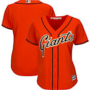 Majestic Women's Replica San Francisco Giants Cool Base Alternate Orange Jersey