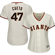 Majestic Women's Replica San Francisco Giants Johnny Cueto #47 Cool Base Home Ivory Jersey