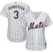 Majestic Women's Replica New York Mets Curtis Granderson #3 Cool Base Home White Jersey