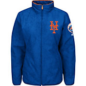 Majestic Women's New York Mets Therma Base Royal On-Field Premier Jacket