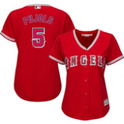Majestic Women's Replica Los Angeles Angels Albert Pujols #5 Cool Base Alternate Red Jersey