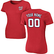 Majestic Women's Custom Washington Nationals Red T-Shirt