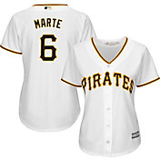 Majestic Women's Replica Pittsburgh Pirates Starling Marte #6 Cool Base Home White Jersey