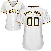 Majestic Women's Custom Cool Base Replica Pittsburgh Pirates Home White Jersey