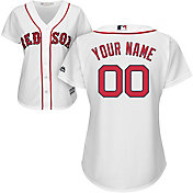 Majestic Women's Custom Cool Base Replica Boston Red Sox Home White Jersey