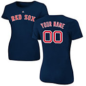 Majestic Women's Custom Boston Red Sox Navy T-Shirt