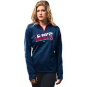 Majestic Women's Boston Red Sox On-Field Navy Authentic Collection Quarter-Zip Pullover Hoodie